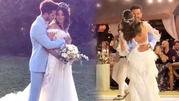 Deniz Baysal ve Barış Yurtçu evlendi - İşte düğünden ilk kareler