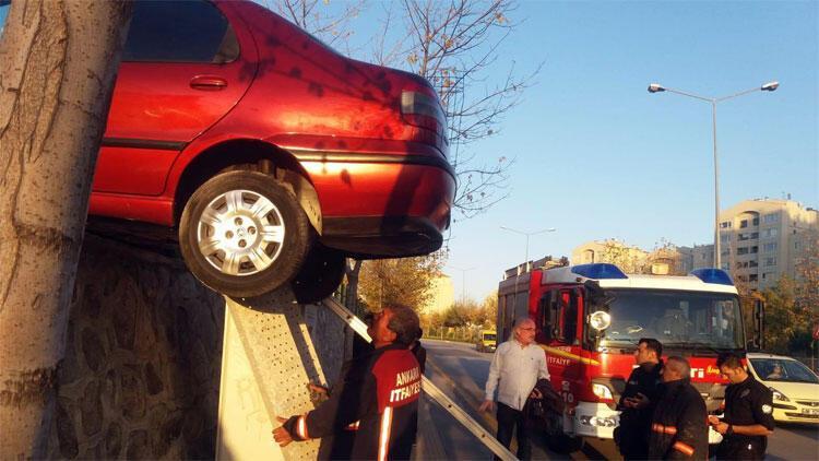Gören şaştı kaldı! Akılalmaz kaza...