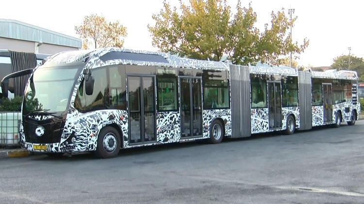 İstanbul'da Yeni metrobüsler test ediliyor
