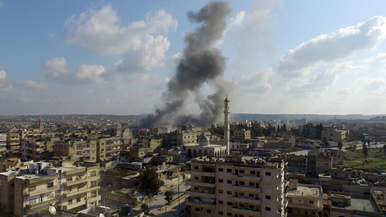 AA, Esed rejimi ve destekçilerinin İdlib'e bombardımanını havadan görüntüledi ile ilgili görsel sonucu