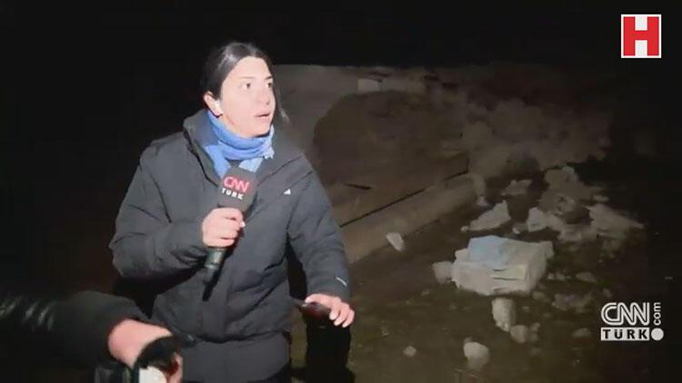CNN TÜRK canlı yayını sırasında deprem oldu
