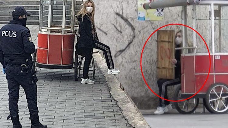 İstanbul'da hareketli dakikalar! Polis karantinadan kaçan kadının ...