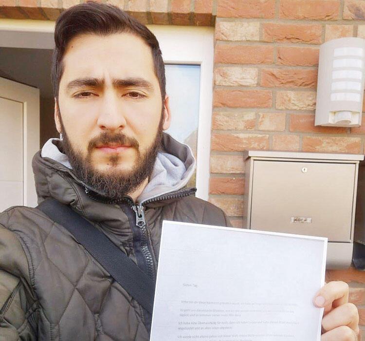 Son dakika haberi: Faşistlerin yaptığına bakın! Türk aileye koronalı mektup 1