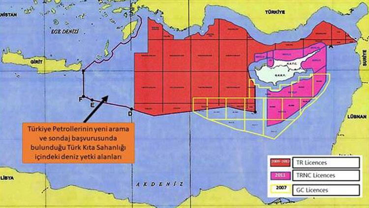 TPAO, Doğu Akdeniz için yeni sondaj ruhsatları için başvurmuştu! Bakanlık haritayı paylaştı - Son Dakika Flaş Haberler