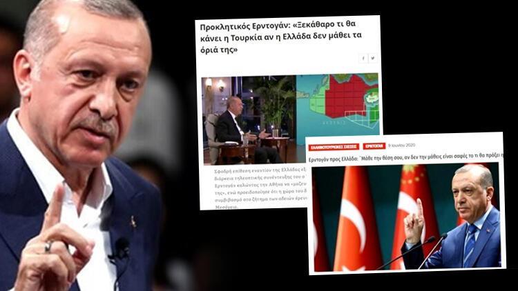 Cumhurbaşkanı Erdoğan rest çekti! Yunanistan medyası bunları yazdı ...