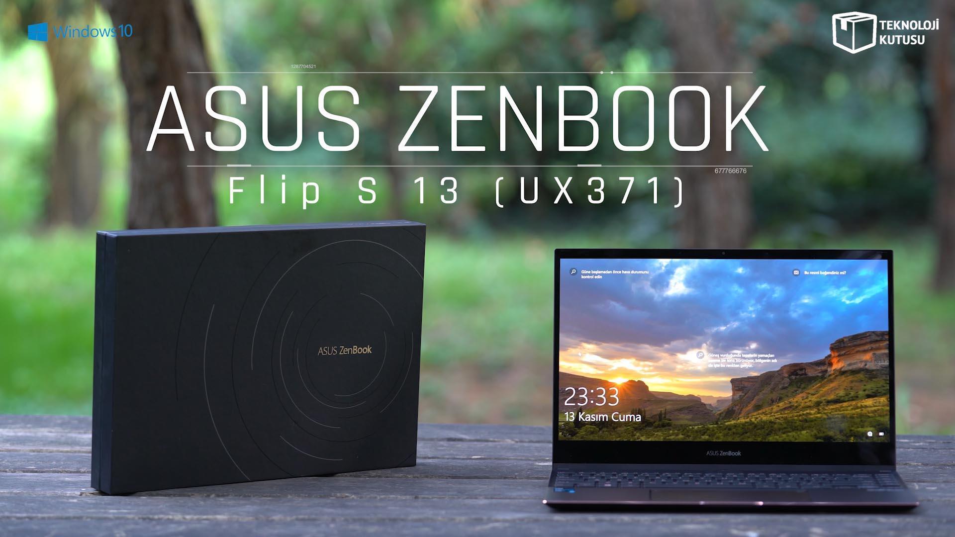 ASUS Zenbook Flip S 13 incelemesi