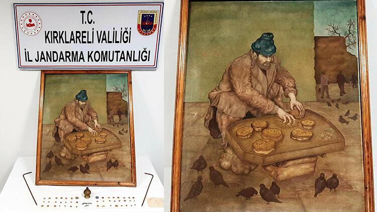 Kırklareli'de 750 bin dolara satılmak istenen tablo ele geçirildi