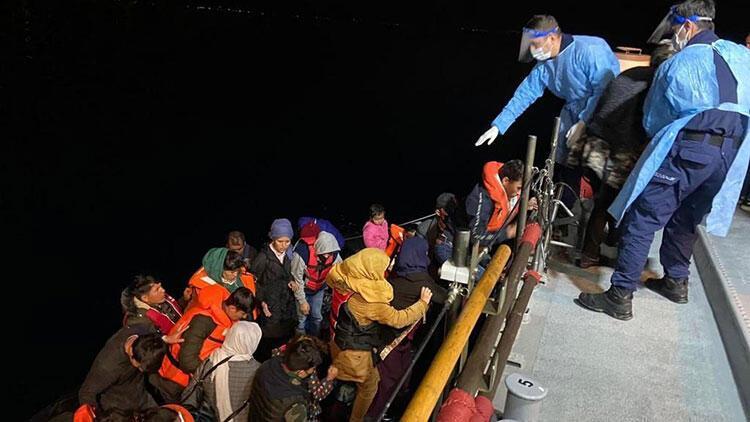 Çanakkale açıklarında çok sayıda kaçak göçmen kurtarıldı