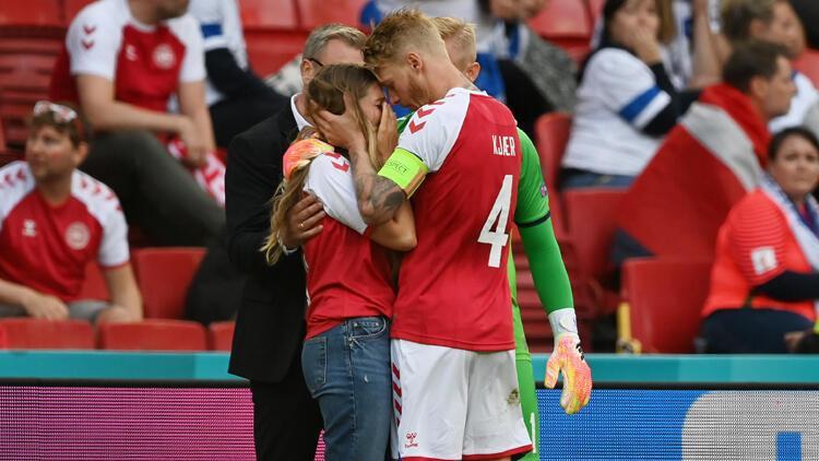 Son Dakika: Christian Eriksen'in eşi Sabrina Kvist gözyaşlarına boğuldu