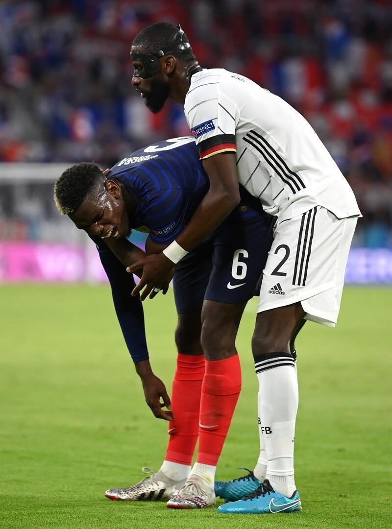Antonio Rüdiger ile Paul Pogba arasında yaşanlardan öne çıkan fotoğraflar