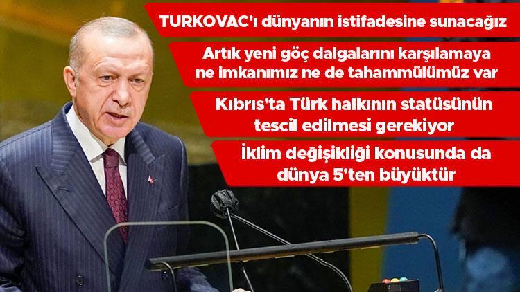 Son dakika haberi: Cumhurbaşkanı Erdoğan'dan BM Genel Kurulu'nda önemli mesajlar - Hürriyet