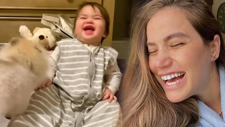 Ceyda Ateş'İn kızı Talia gülme krizine girdi