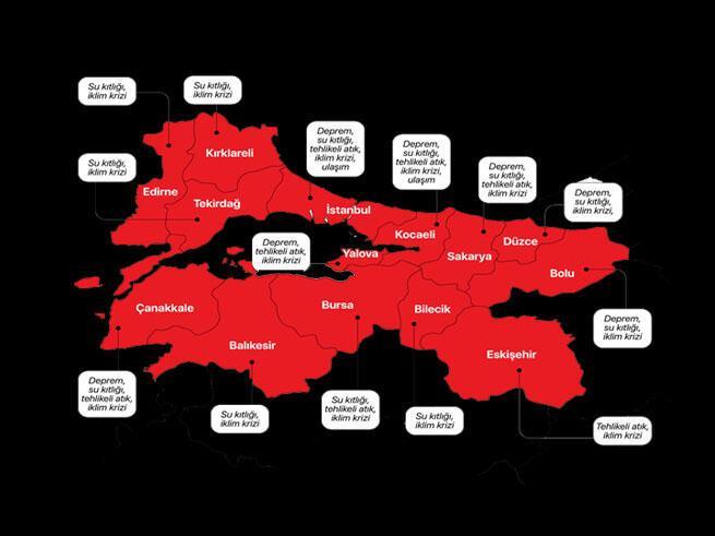 Marmaranın risk haritası açıklandı