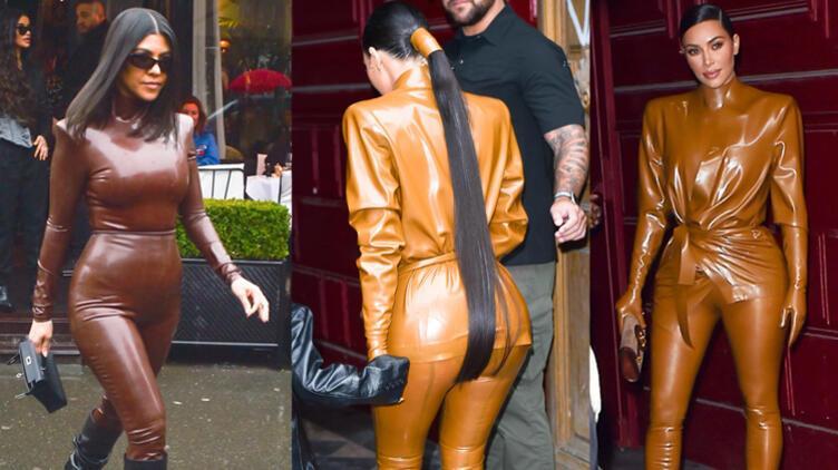 Tepeden Tırnağa Lateks: Kim & Kourtney Kardashian