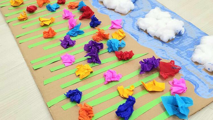 Çocuklar, sanat ve el işi çalışmaları