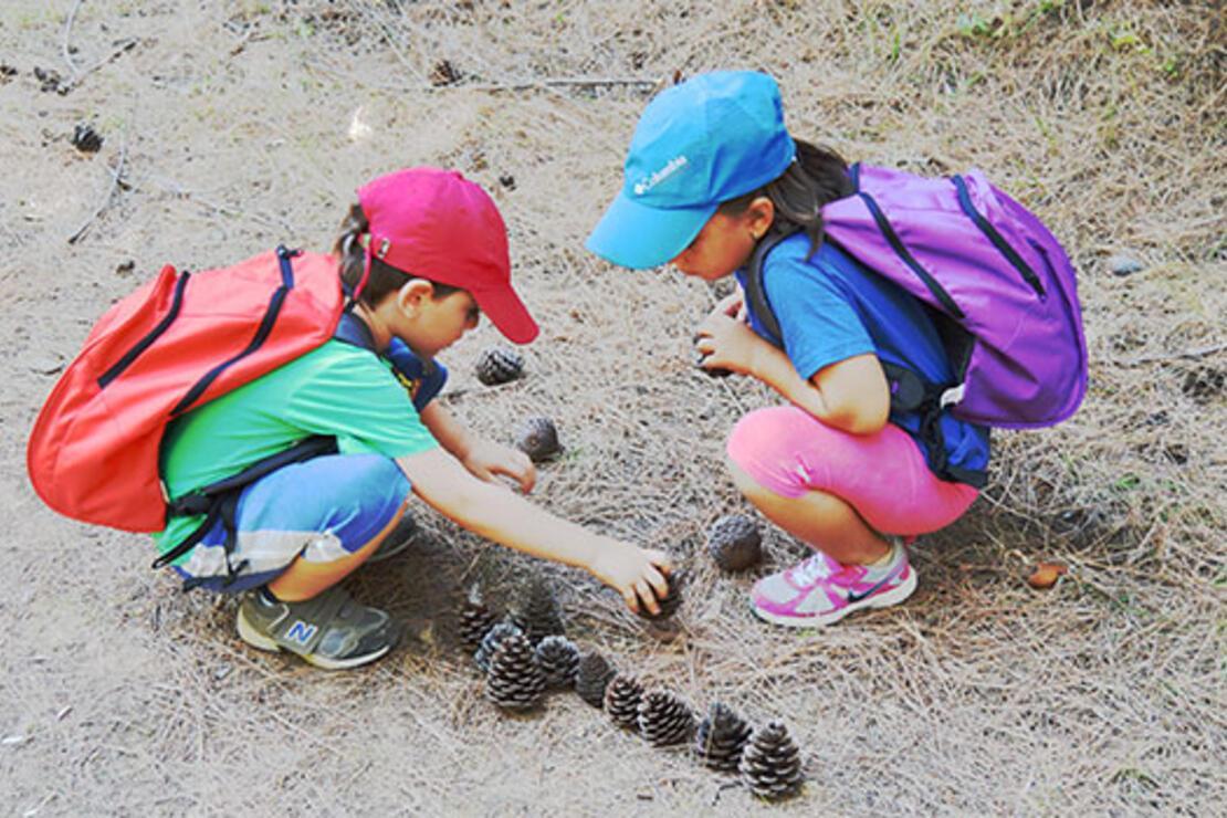 Çocuklarla doğada baş başa
