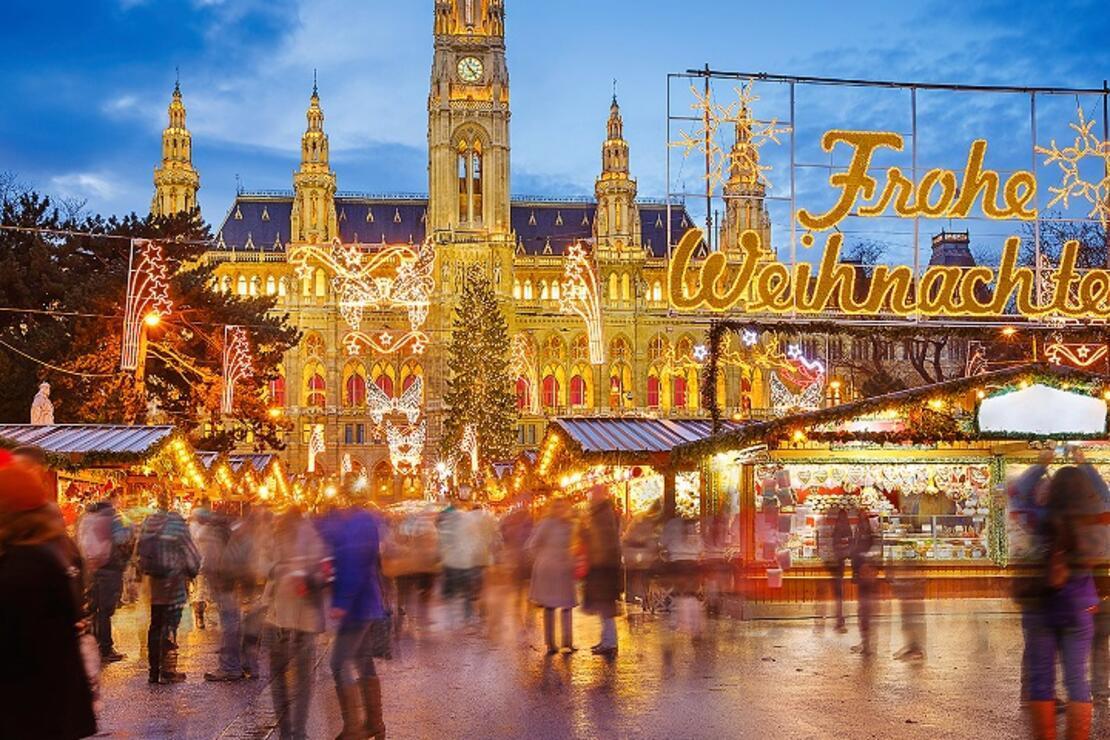 Noel'in en renkli ve neşeli adresi: Viyana