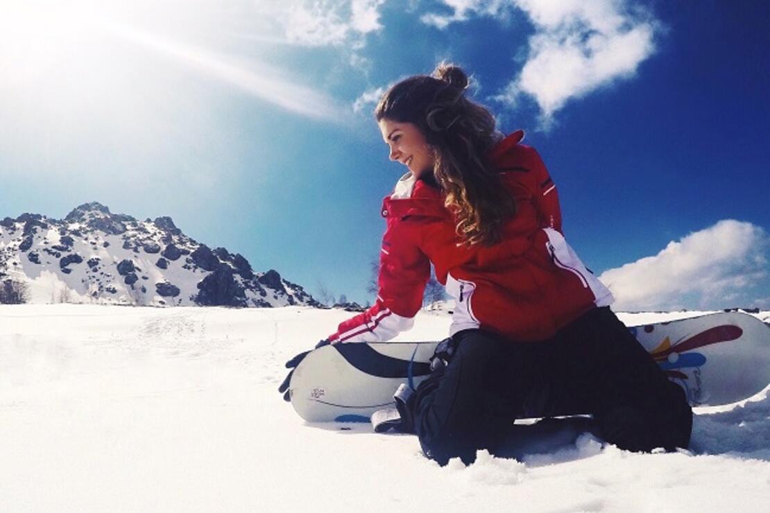 Erciyes'te karlar kraliçesi oldum