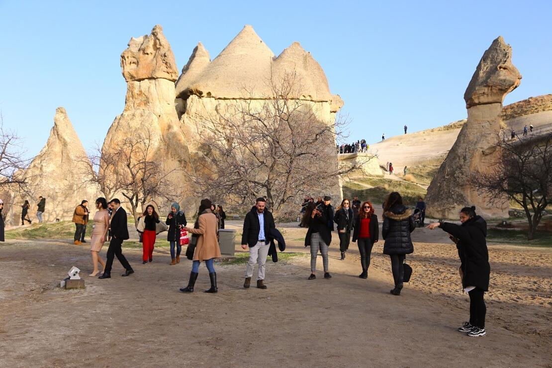 Kapadokya'da yarıyıl tatili yoğunluğu