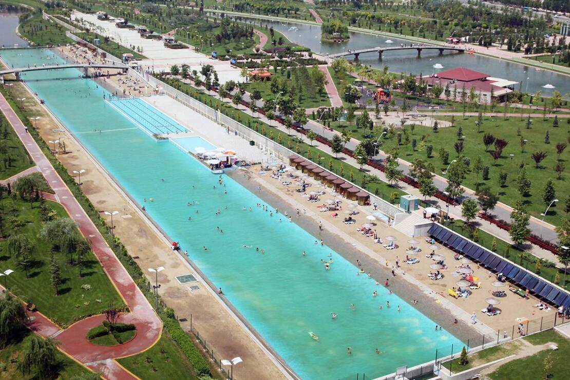 Eskişehir'de mavi-yeşil bir gün