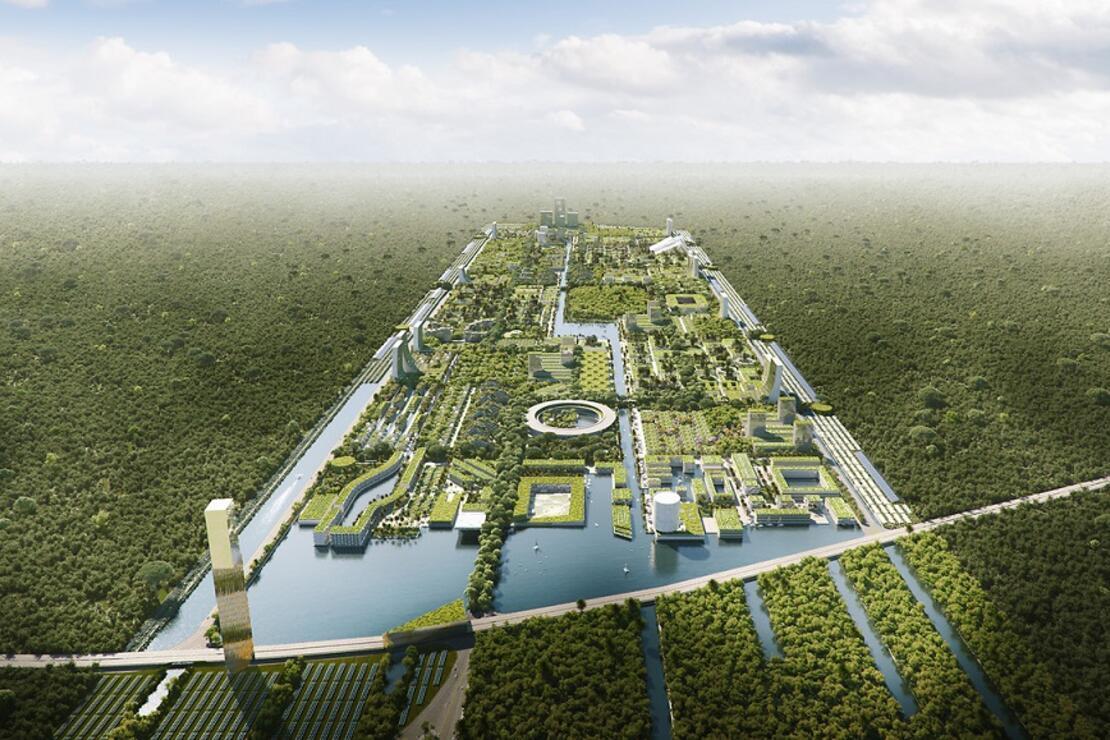 Dünyanın ilk akıllı orman şehri kuruluyor! 130 bin kişi yaşayacak...