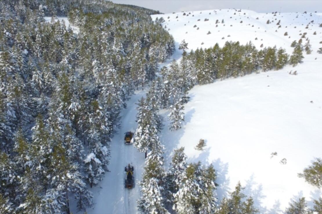 Beyaza bürünen Dumanlı Tabiat Parkı