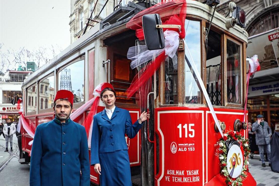Tünel'in 145, nostaljik tramvayın 106. yılı kutlandı