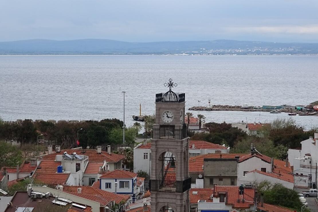 Bozcaada'da 151 yıllık kilisenin çan kulesi restore edildi