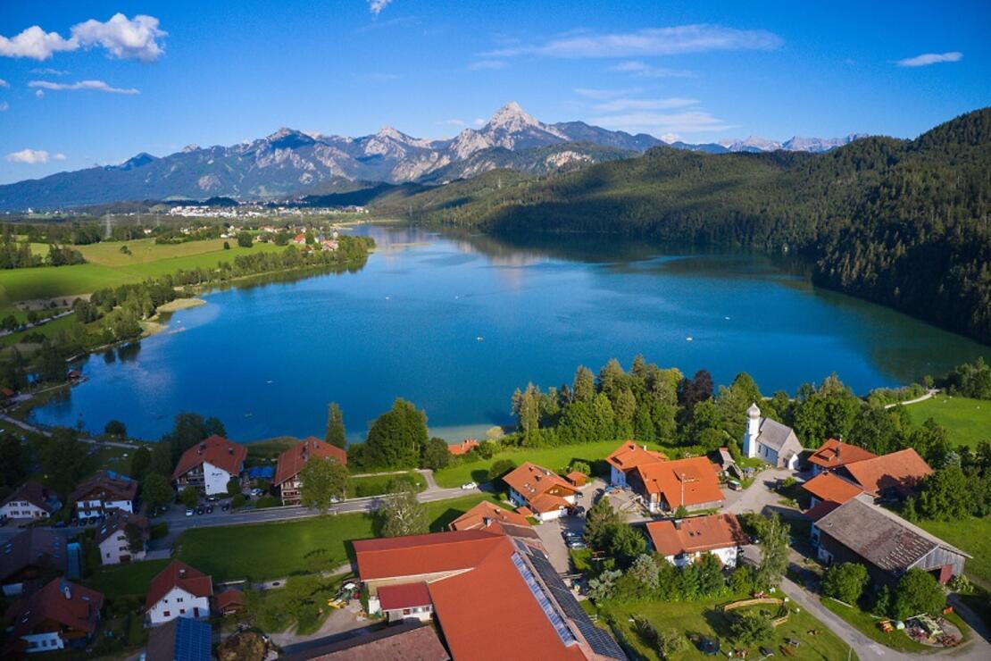 Almanya'nın en temiz göllerinden Weissensee