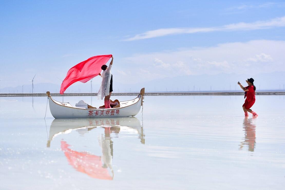 Çin'in turistik tuz gölü: Caka