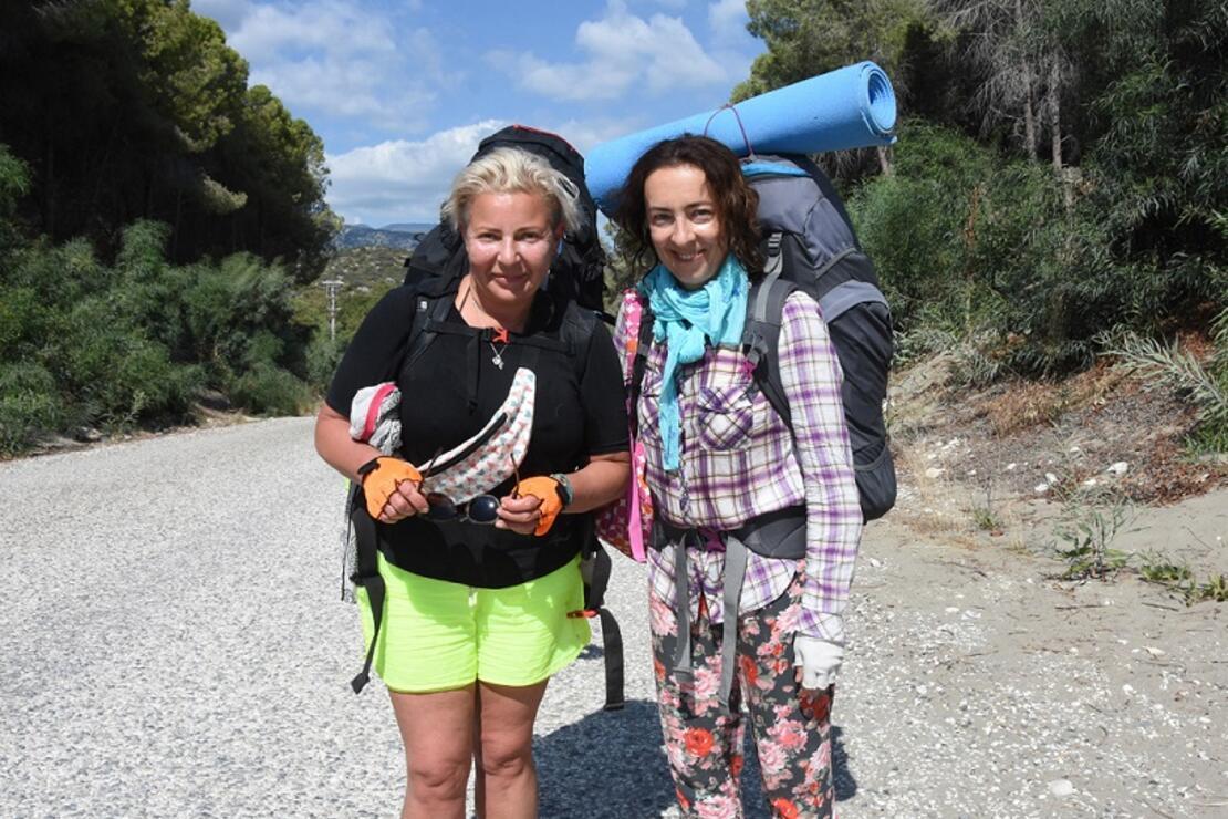 Ukraynalı Olga ve Marina, 5'inci kez Likya Yolu'nda yürümeye geldi