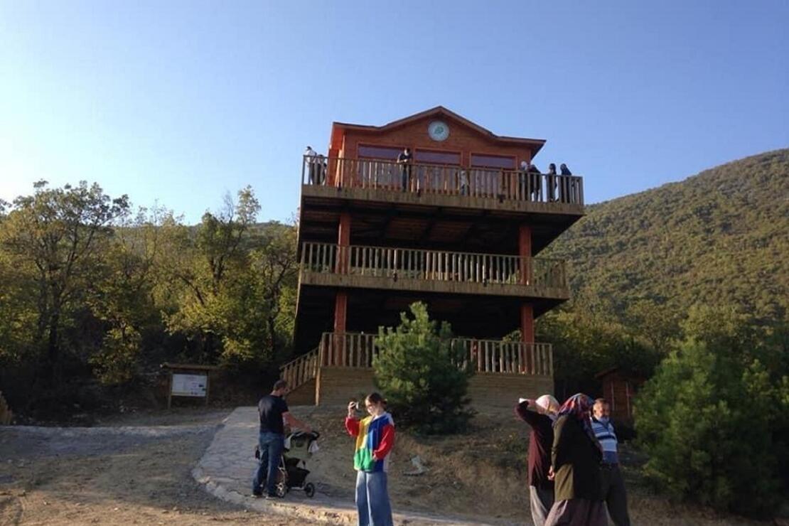 Küre Dağları Milli Parkı'ndaki 3 katlı Seyir Terası'na ziyaretçi akını