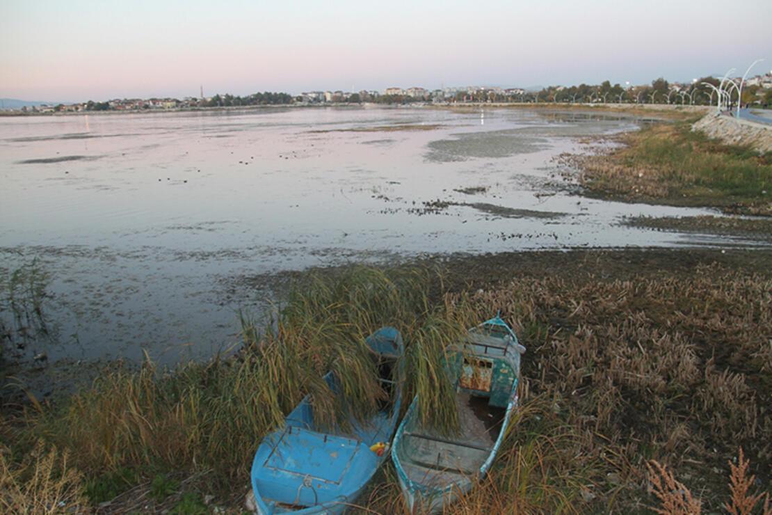 Beyşehir Gölü'nde sular çekildi, kıyılarda sazlıklar oluştu