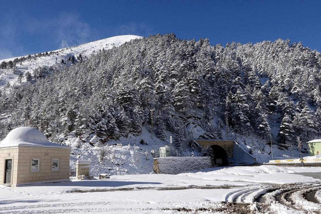 Beyaza bürünen Zigana Dağı'nda seyirlik manzara