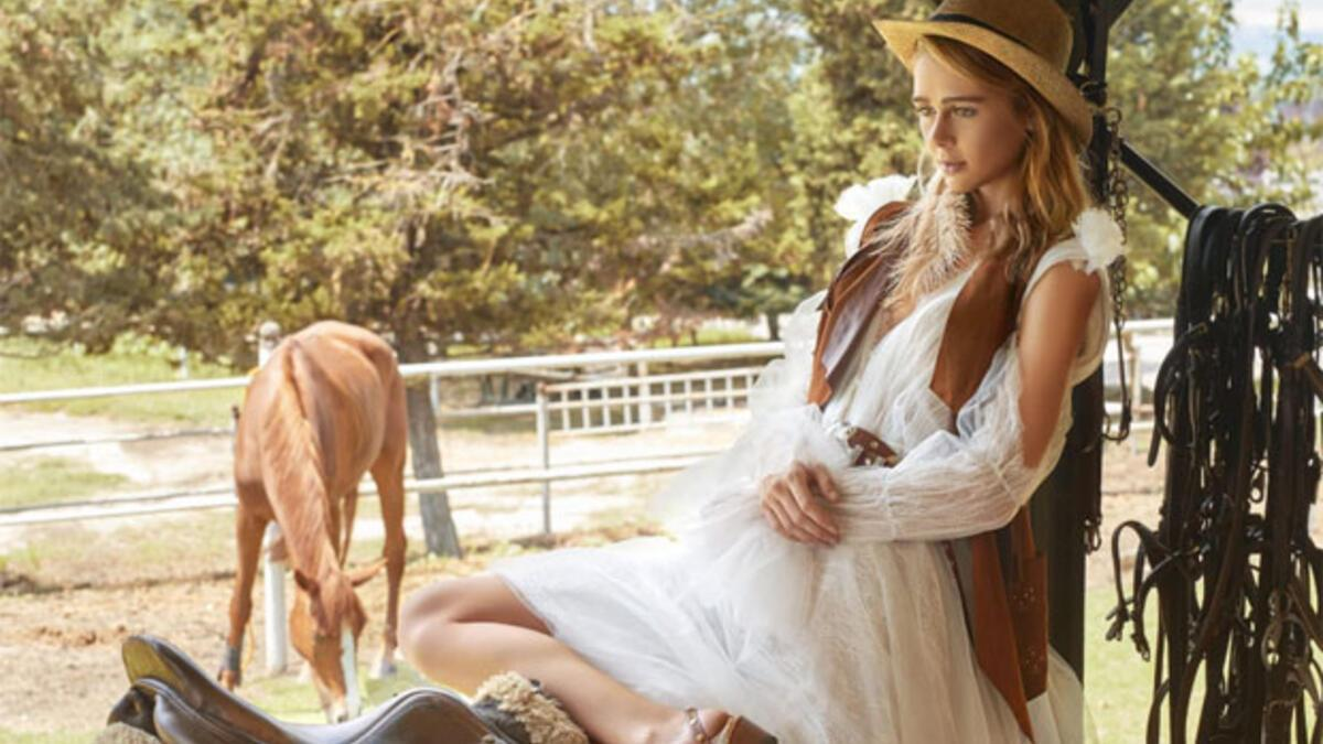 2019'un gelinlik modasına Vahşi Batı damgası