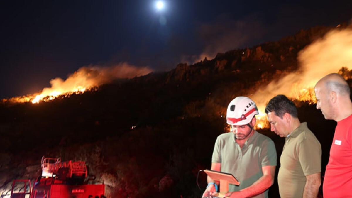 Tatil cennetinde korkutan yangın