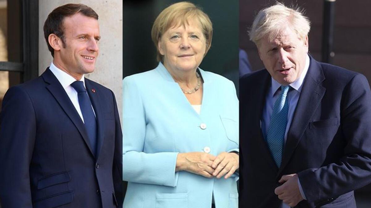 'Macron, Merkel ve Johnson Cumhurbaşkanı Erdoğan ile görüşecek'