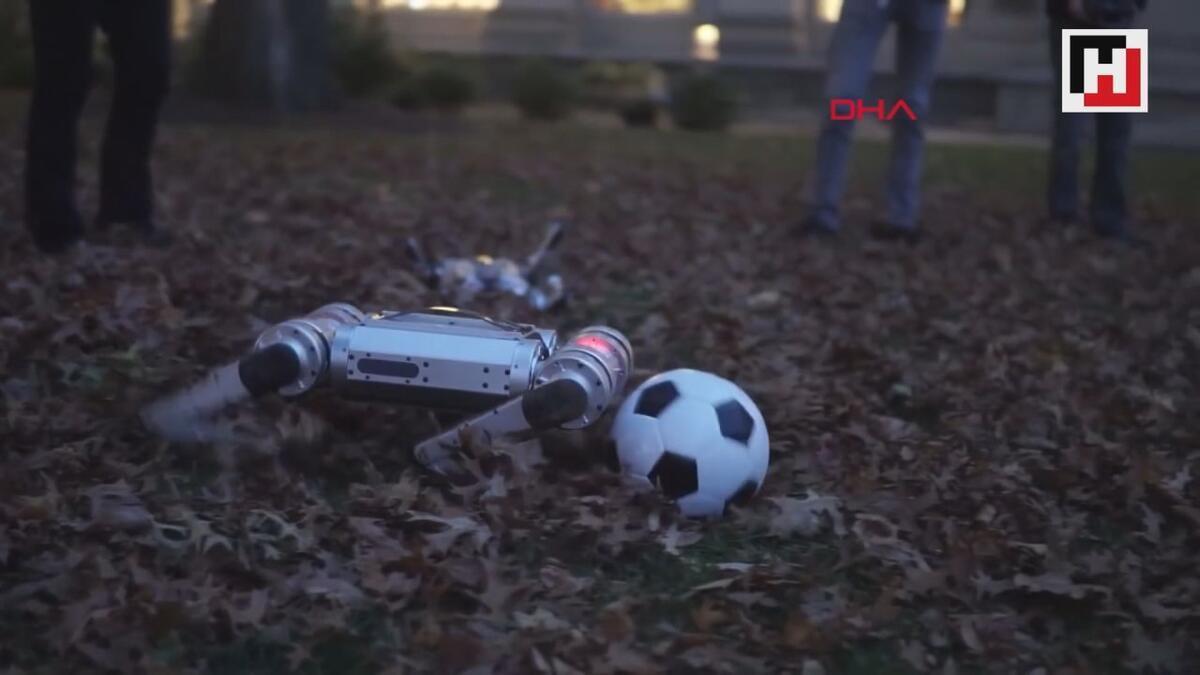 ABD'de robotlar futbol oynadı