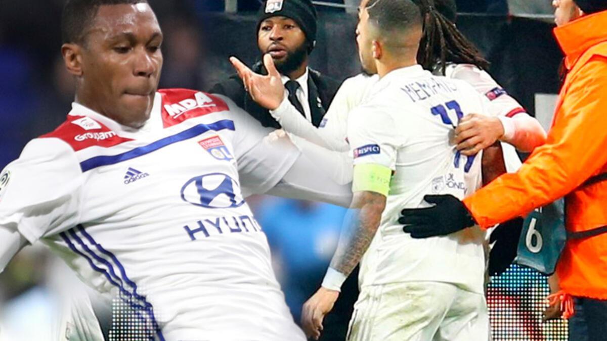 Eski Beşiktaşlı Marcelo'ya çirkin saldırı! Lyonlu futbolcular tribüne koştu