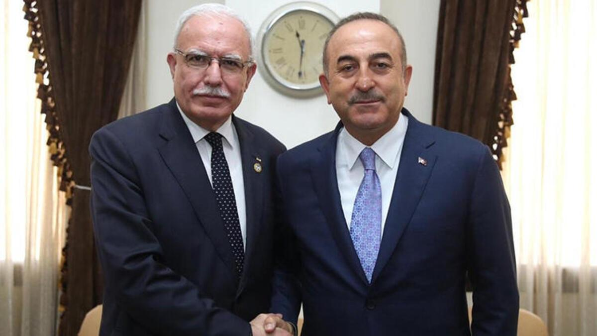 Son dakika haberi: Dışişleri Bakanı Mevlüt Çavuşoğlu, Filistinli mevkidaşı El Maliki ile görüştü