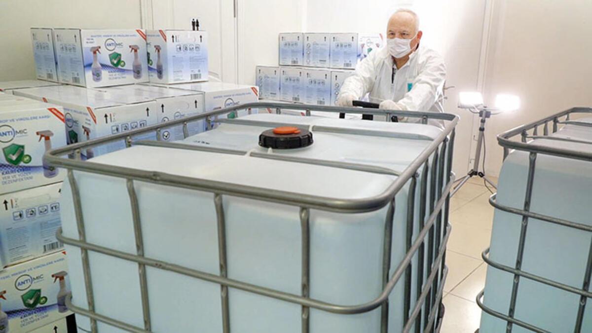 10 ton dezenfektan bağışladı