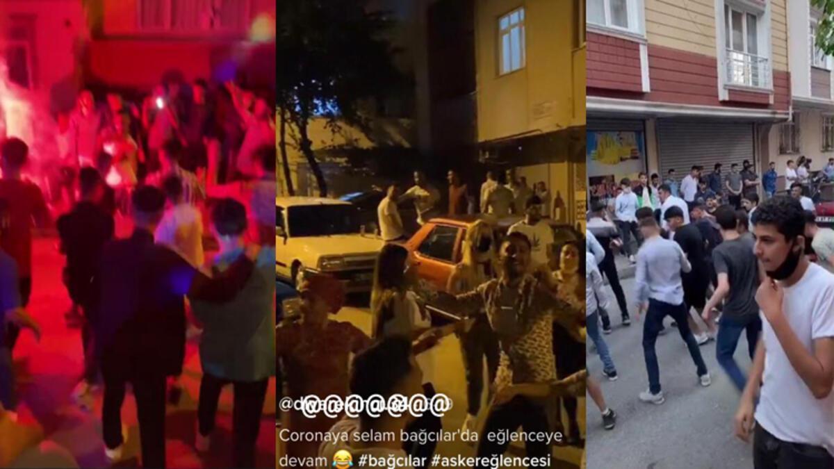 İstanbul'daki bu görüntüler tepki çekti! 'Koronaya selam partiye ...
