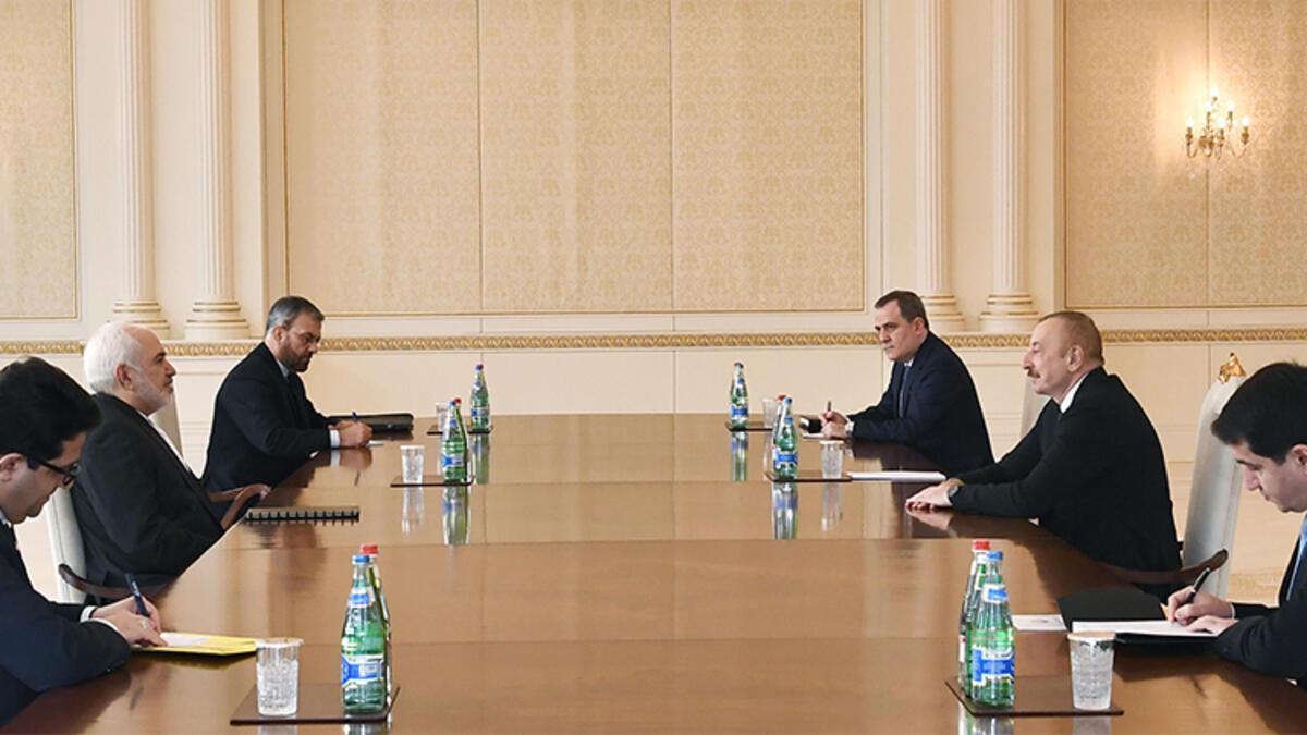 Azerbaycan Cumhurbaşkanı Aliyev, İran Dışişleri Bakanı Zarif'i kabul etti - Sondakika Haberler