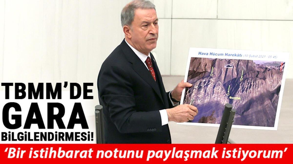 Milli SavunmaBakanıHulusi Akarile İçişleri BakanıSüleyman SoyluMeclis'teGara Operasyonu'nu anlattı ile ilgili görsel sonucu