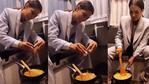 Oyuncu Demet Özdemir karavanda omlet yaptı