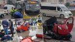 Bursada halk otobüsüyle elektrikli araç çarpıştı