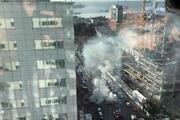 İzmirdeki patlamadan görüntüler