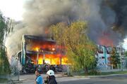 Çerkezköyde fabrika alev alev yanıyor