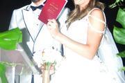 Güzel Köylü'nün Gül'ü Gizem Karaca  evlendi