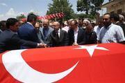 Mehmet Şah Yıldızın cenazesinde büyük kalabalık